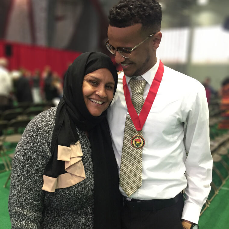 ahmed and mother