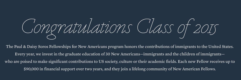 Congratulations, 2015 Fellows!