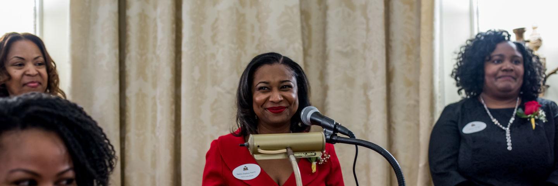 2016 haitian ladies brunch remarks at podium