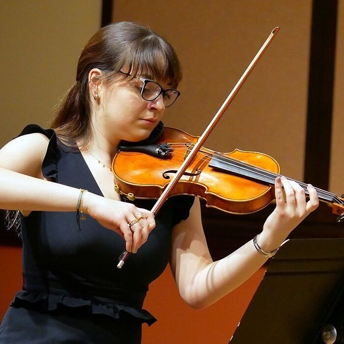 sylvia performing with the mit chamber music society