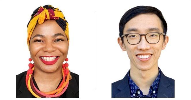 James Dian and Naomi Nkinsi